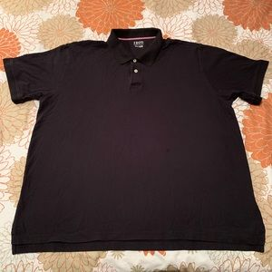 Men's Black Big & Tall Short Sleeve Polo 4XL